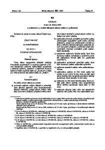 Částka 30. ze dne 26. března 2009 o auditorech a o změně některých zákonů (zákon o auditorech) Parlament se usnesl na tomto zákoně České republiky:
