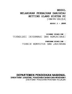 ATAU SETTING ULANG SISTEM PC [HDW.MNT.203.(2).A]