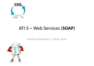 ATI 5 Web Services (SOAP) Antonius Rachmat C, S.Kom, M.Cs