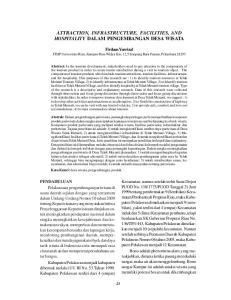 ATTRACTION, INFRASTRUCTURE, FACILITIES, AND HOSPITALITY DALAM PENGEMBANGAN DESA WISATA