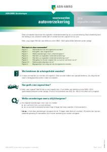 autoverzekering Hebt u nog vragen? Bel dan naar telefoonnummer (gebruikelijke belkosten zonder opslag)