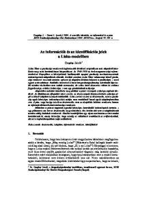 Az információk és az identifikációs jelek a Liska-modellben