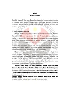 BAB 1 PENDAHULUAN A. Latar Belakang Penelitian Syarif Firmansyah, 2013