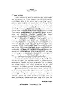 BAB 1 PENDAHULUAN. Universitas Indonesia. Analisis efektivitas..., Suparyanti, FE UI, 2008