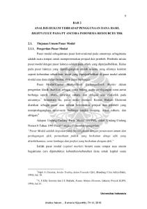 BAB 2 ANALISIS HUKUM TERHADAP PENGGUNAAN DANA HASIL RIGHTS ISSUE PADA PT ANCORA INDONESIA RESOURCES TBK