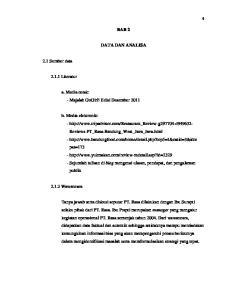 BAB 2 DATA DAN ANALISA. a. Media cetak: - Majalah GoGirl! Edisi Desember 2011