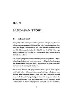 Bab 2 LANDASAN TEORI. 2.1 Definisi Graf