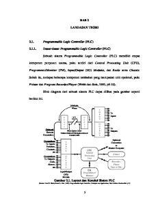 BAB 2 LANDASAN TEORI Dasar-dasar Programmable Logic Controller (PLC)