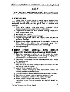BAB-2 TATA CARA PELAKSANAAN JANAIZ (Bahasan Ringkas)