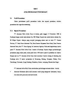 BAB 3 ANALISIS KEADAAN PERUSAHAAN. PT. Asuransi Multi Artha Guna di dirikan pada tanggal 14 November 1980 di
