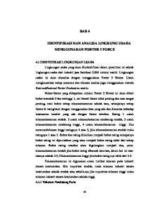 BAB 4 IDENTIFIKASI DAN ANALISA LINGKUNG USAHA MENGGUNAKAN PORTER 5 FORCE