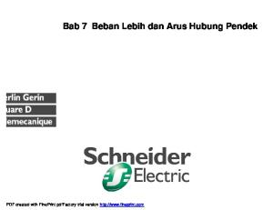 Bab 7 Beban Lebih dan Arus Hubung Pendek. PDF created with FinePrint pdffactory trial version