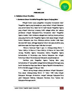 BAB I PENDAHULUAN. 1. Gambaran Umum Yurisdiksi Pengadilan Agama Tanjung Selor