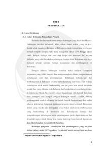 BAB I PENDAHULUAN. 1 Pimpinan Karta Pustaka Yogyakarta : Anggi Minarni