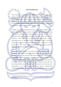Bab I Pendahuluan. 1 Subandono Diposaptono, Rehabilitasi Pascatsunami yang Ramah Lingkungan, Kompas 20