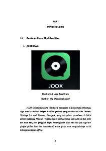 BAB I PENDAHULUAN. 1.1 Gambaran Umum Objek Penelitian. 1. JOOX Music. Gambar 1.1 Logo Joox Music. Sumber: