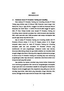 BAB I PENDAHULUAN 1.1 Gambaran Umum PT Pertamina Training and Consulting