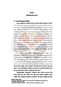 BAB I PENDAHULUAN 1.1. Latar Belakang Penelitian Hayyah Fauziah, 2013