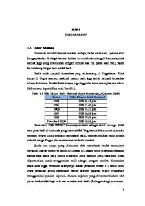 BAB I PENDAHULUAN 1.1. Latar Belakang Tahun Nilai Ekspor Batik Nasional