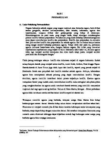 BAB I PENDAHULUAN. (2000) p Budyanto, Dasar Teologis Kebersamaan dalam Masyarakat yang Beranekaragam Gema Duta Wacana, Vol
