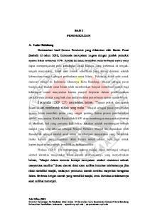 BAB I PENDAHULUAN A. Latar Belakang Faiz Urfan,2013