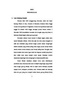 BAB I PENDAHULUAN. bandang Wasior di Irian, Tsunami di Mentawai, Sumatera Barat hingga
