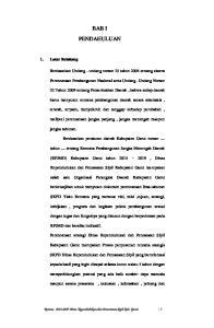 BAB I PENDAHULUAN. Berdasarkan Undang - undang nomor 25 tahun 2004 tentang sistem. Perencanaan Pembangunan Nasional serta Undang- Undang Nomor
