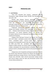 BAB I PENDAHULUAN. LAKIP Dinas Peternakan Perikanan dan Kelautan Kota Denpasar Page 1