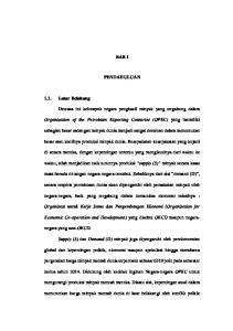 BAB I PENDAHULUAN. Organization of the Petroleum Exporting Countries (OPEC)