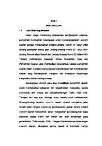 BAB I PENDAHULUAN. pemerintah memberikan kesempatan untuk menyelenggarakan otonomi. daerah dengan mengeluarkan Undang-Undang Nomor 12 Tahun 2008