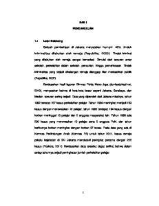 BAB I PENDAHULUAN. Sebuah pemberitaan di Jakarta menyatakan ham p ir 40% tindak