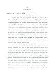 BAB I PENDAHULUAN. sya ir Syekh Abdul Wahab juga menulis 44 Wasiat dan 45 Lafaz Munajat. Menurut