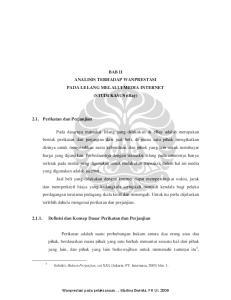 BAB II ANALISIS TERHADAP WANPRESTASI PADA LELANG MELALUI MEDIA INTERNET (STUDI KASUS ebay)