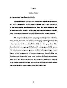 BAB II DASAR TEORI. Programmable Logic Controller ( PLC ) pada dasarnya adalah sebuah komputer