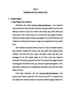 BAB II DESKRIPSI WILAYAH PENELITIAN. Berdasarkan situs website