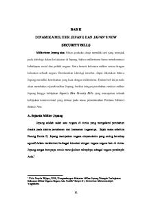 BAB II DINAMIKA MILITER JEPANG DAN JAPAN S NEW SECURITY BILLS