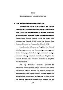 BAB II GAMBARAN UMUM LOKASI PENELITIAN. A. Profil Dinas Komunikasi Informatika Provinsi Riau