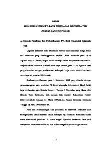 BAB II GAMBARAN UMUM PT. BANK MUAMALAT INDONESIA TBK CABANG TANJUNGPINANG. A. Sejarah Pendirian dan Perkembangan PT. Bank Muamalat Indonesia