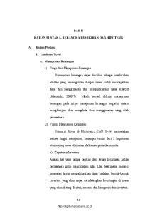 BAB II KAJIAN PUSTAKA, RERANGKA PEMIKIRAN DAN HIPOTESIS. 1) Pengertian Manajemen Keuangan