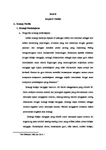 BAB II KAJIAN TEORI. A. Konsep Tioritis 1. Strategi Pembelajaran. a. Pengertian strategi pembelajaran