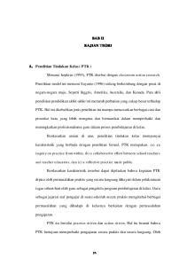 BAB II KAJIAN TEORI. Menurut hopkins (1993), PTK disebut dengan classroom action research