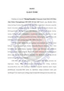 BAB II KAJIAN TEORI. Penelitian ini berjudul Strategi Komunikasi Pemasaran Sosial Oleh LSM Mitra