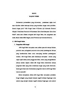 BAB II KAJIAN TEORI. Sesuai dengan judul Alih Fungsi Lahan PT.Kereta Api Indonesia (Persero)
