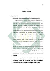 BAB II KAJIAN TEORITIS. 1. Komunikasi Bisnis dan Perekonomian Masyarakat Indonesia