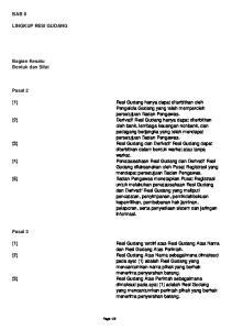 BAB II LINGKUP RESI GUDANG. Bagian Kesatu Bentuk dan Sifat. Pasal 2