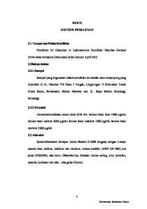 BAB II METODE PENELITIAN. Universitas Sumatera Utara pada bulan Januari-April 2015