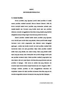 BAB II METODOLOGI PENELITIAN. metode penelitian kualitatif deskriptif. Menurut Nawawi (Nawawi, 1990: 64)
