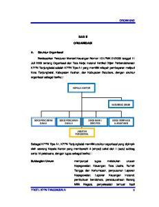 BAB II ORGANISASI KEPALA KANTOR SEKSI PENCAIRAN DANA II JABATAN FUNGSIONAL