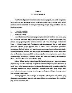 BAB II STUDI PUSTAKA 2.1 LANDASAN TEORI Pengertian Umum