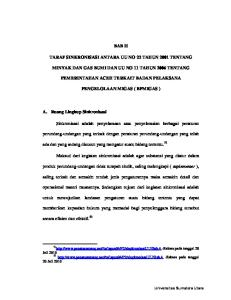 BAB II TARAF SINKRONISASI ANTARA UU NO 22 TAHUN 2001 TENTANG MINYAK DAN GAS BUMI DAN UU NO 11 TAHUN 2006 TENTANG